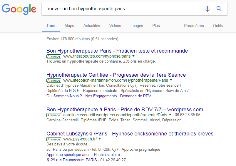 hypnotherapeute_adwords